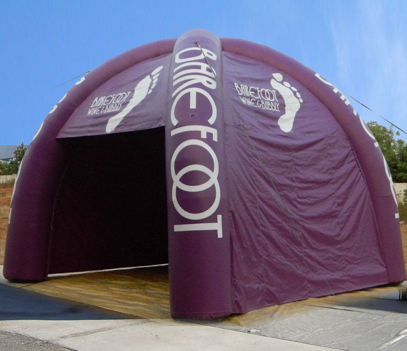 Barefoot Wine Inflatable Tent