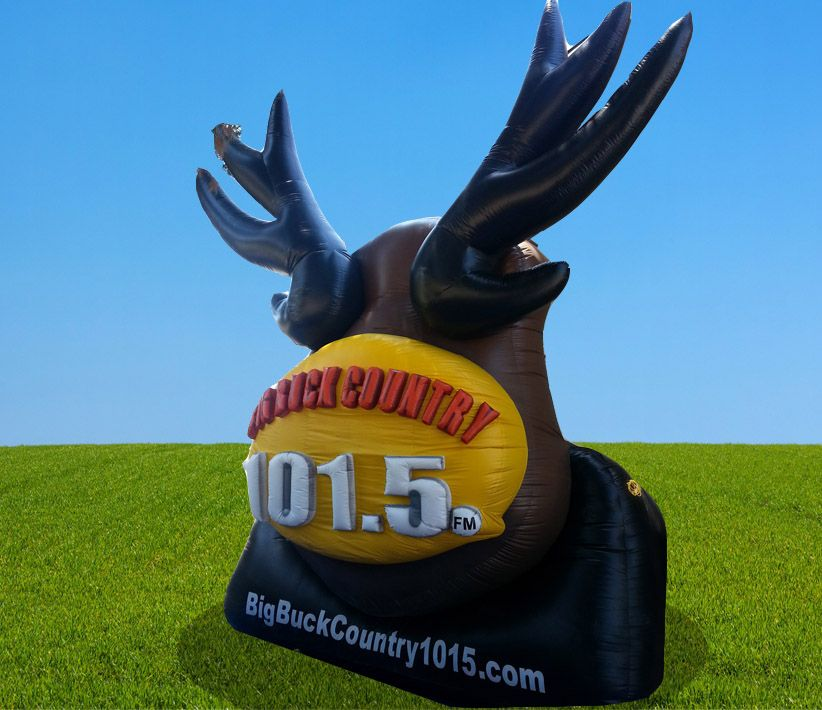Big Buck Country 101.5 FM Giant Inflatable