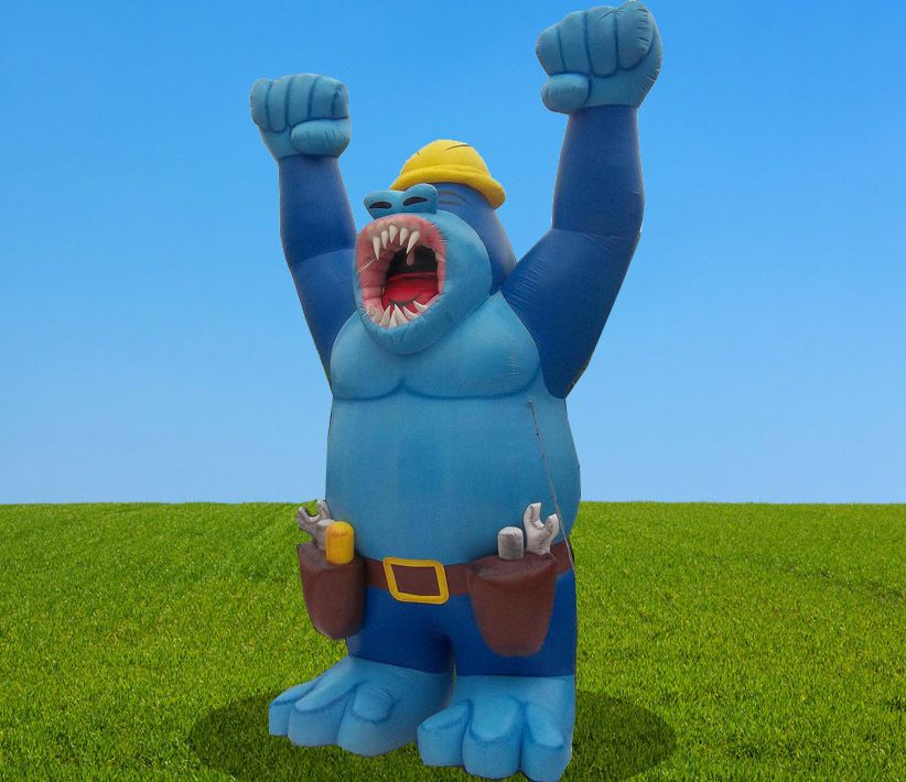 Blue Giant Gorilla Inflatable