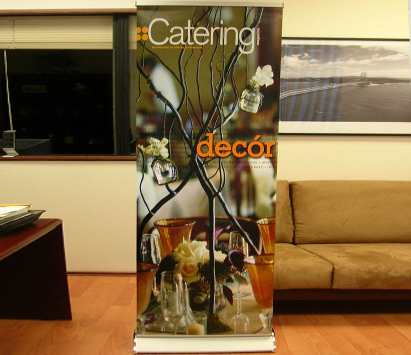 Catering Magazine Roll-Up Banner