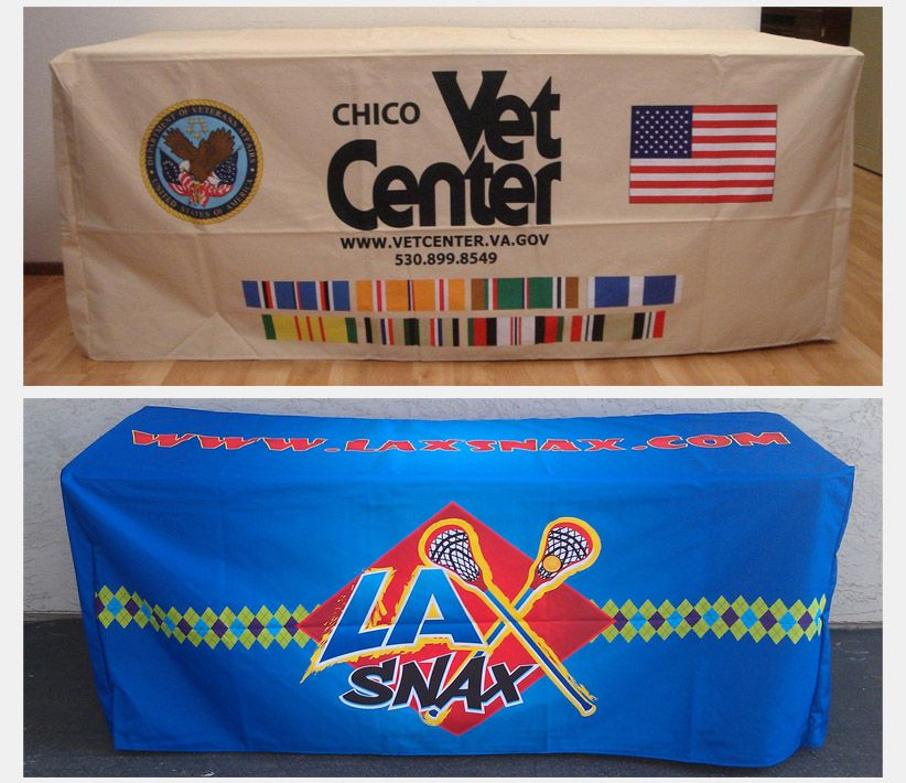 Chico Vet Center & LA Snax Table Covers