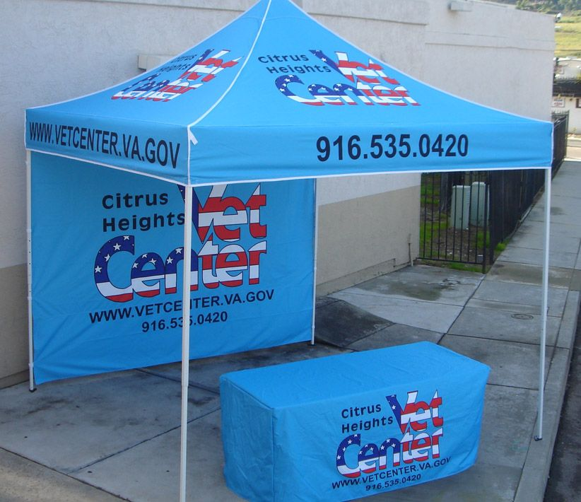 Citrus Heights Vet Center Vendor Tent & Table Cover