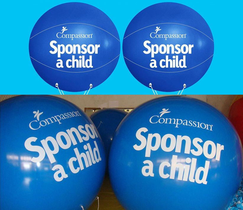 Compassion Sponsor Child Helium Balls