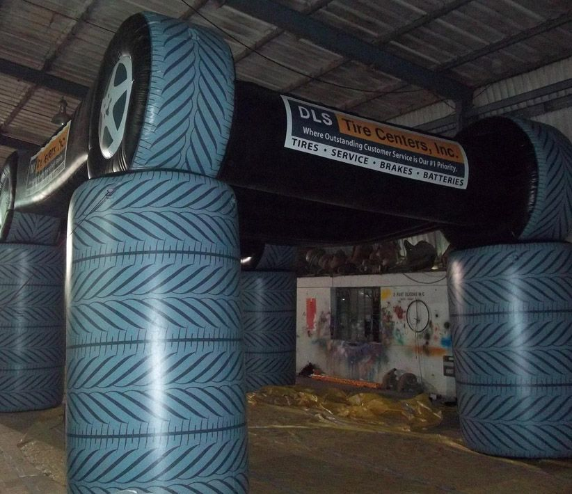 DLS Tire Center Inflatable Tent