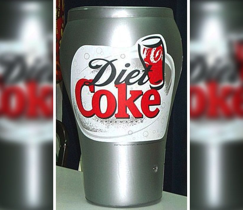 Diet Coke Inflatable Glass