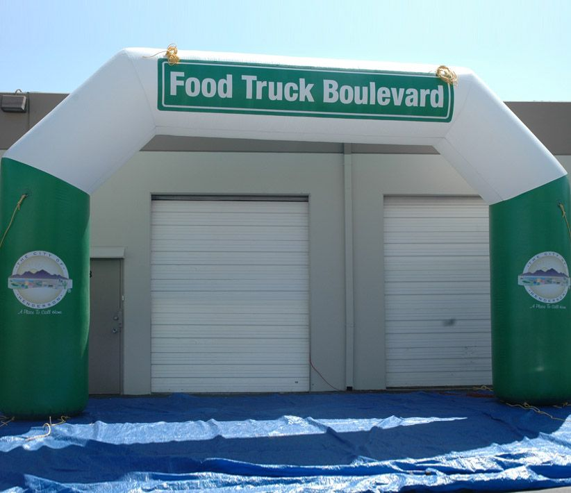 Food Truck Boulevard Inflatable Arch