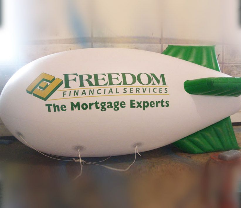 Freedom Financial Helium Blimp
