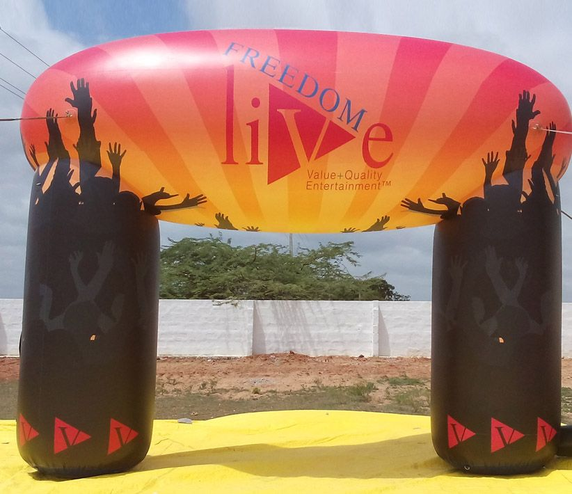 Freedom Live Inflatable Arch