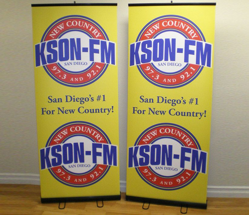 KSON FM Roll-Up Banners