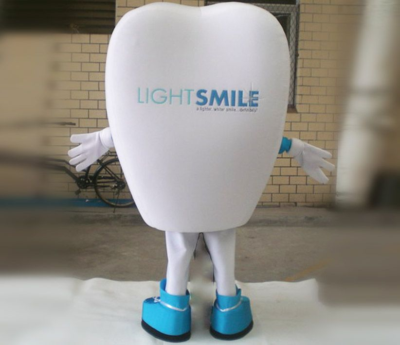 Light Smile Tooth Mascot Costume