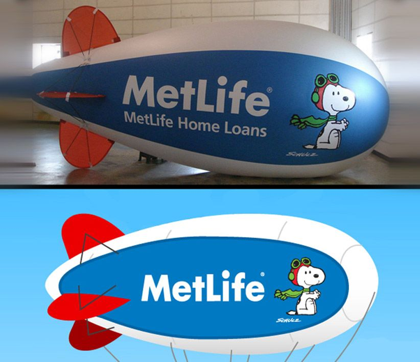 MetLife Snoopy Helium Blimp