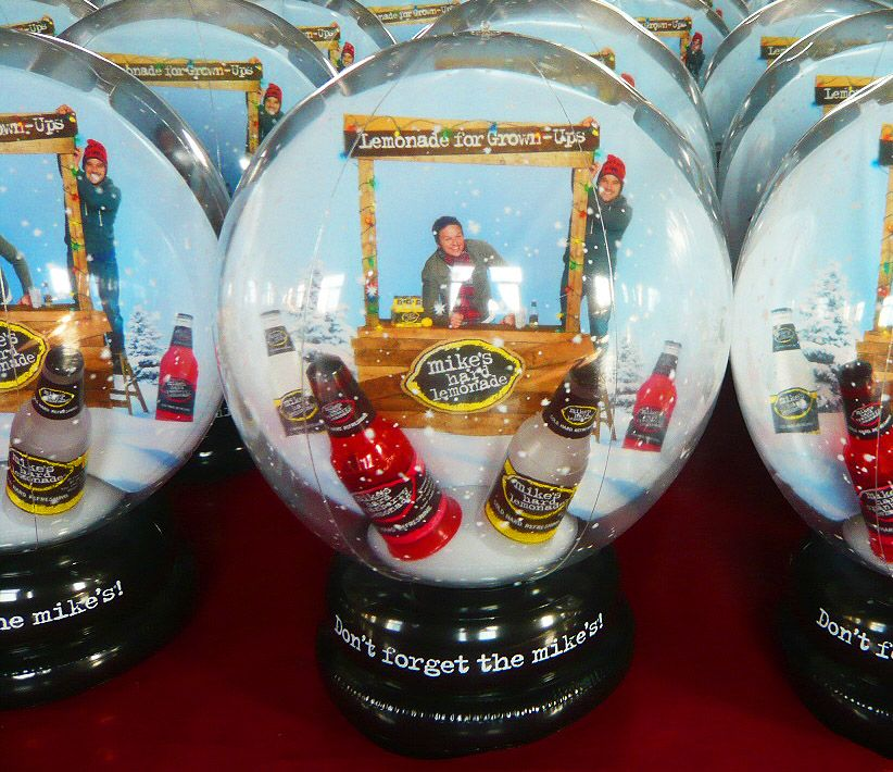 Mike's Hard Lemonade Snow Globe Inflatables