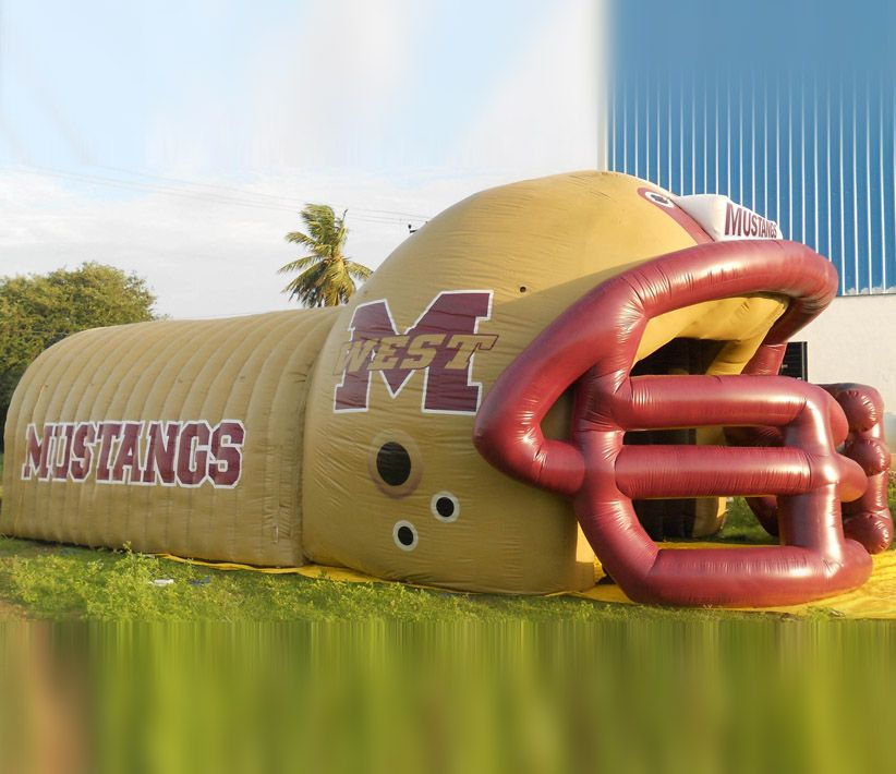 Mustang Helmet Inflatable Tunnel