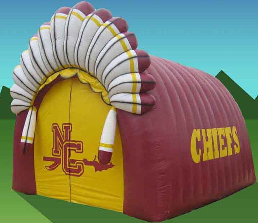 NC Chiefs Inflatable Tunnel