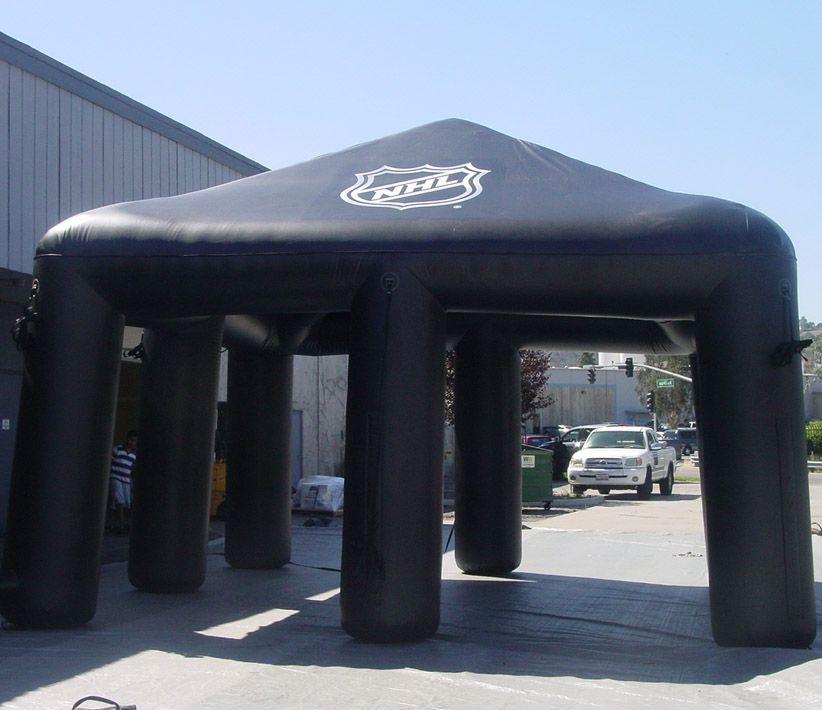 NHL Black Inflatable Tent