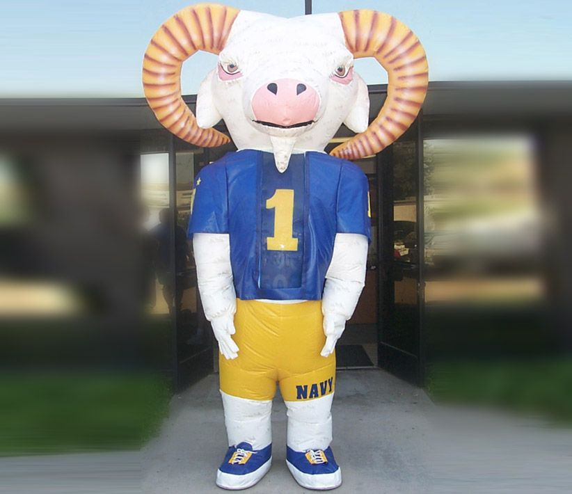 Navy Goat Inflatable Costume