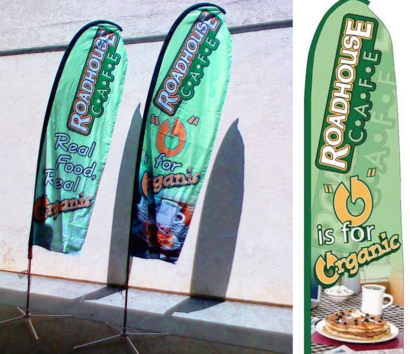 Road House Cafe Flying Promo Banners