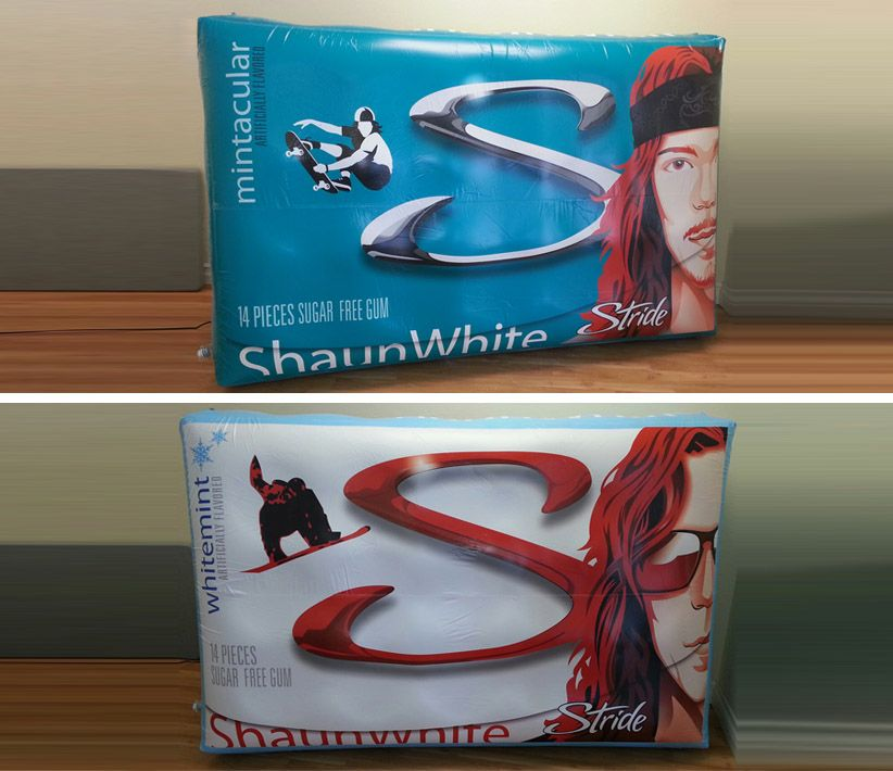 Shaun White Stride Gum Package Inflatables