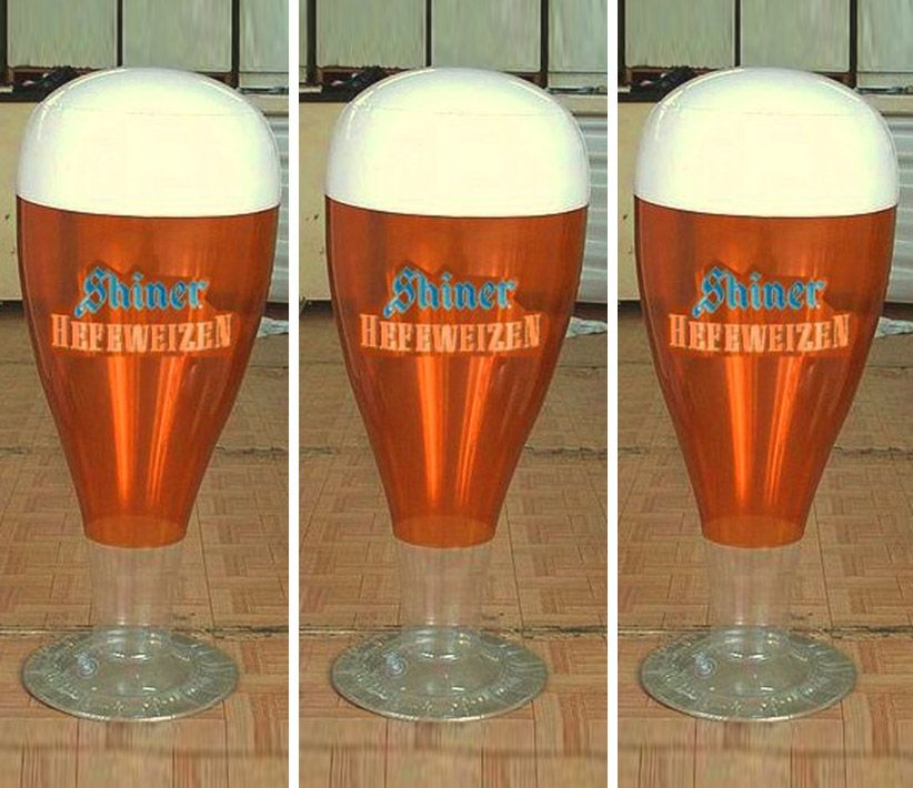 Shiner Hefeweizen Beer Inflatable Glass