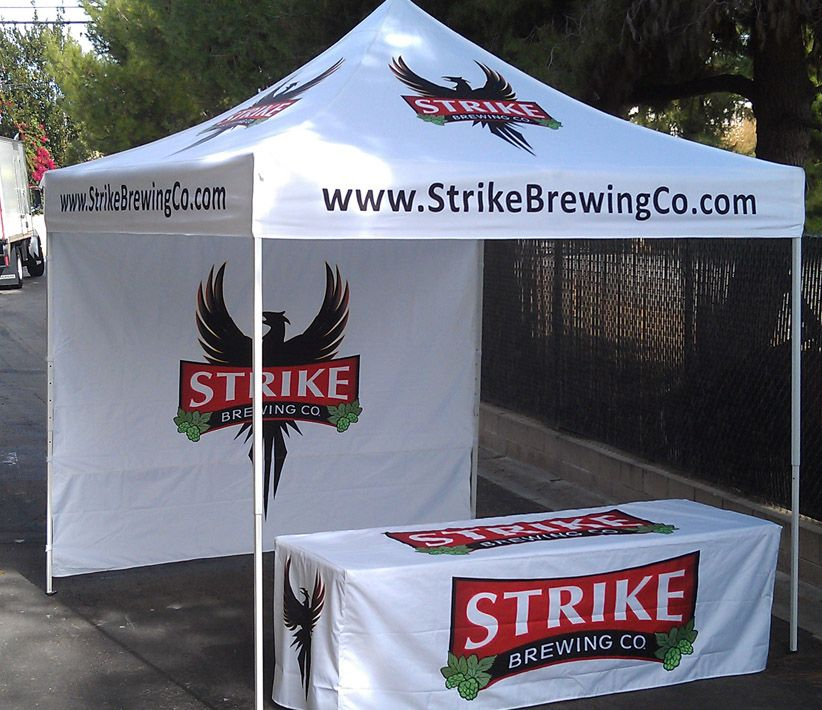 Strike Brewing Co Tent & Table Cover
