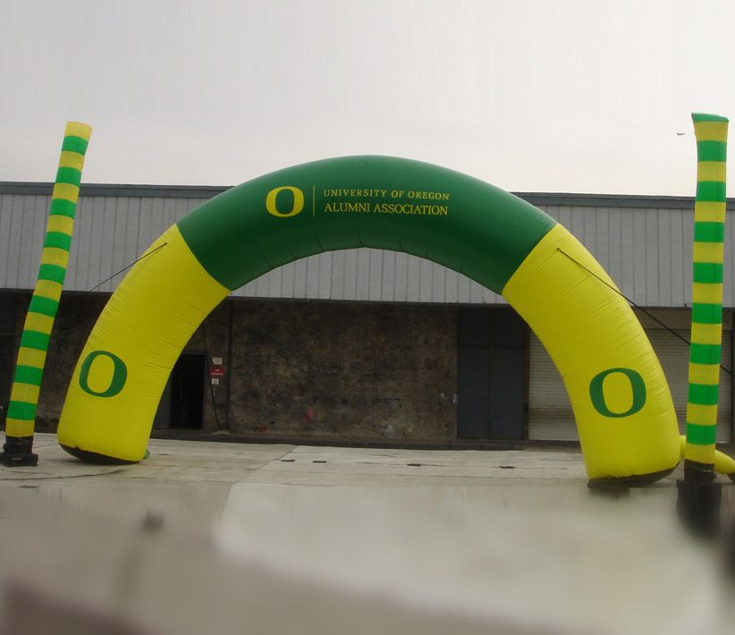 University of Oregon Inflatable Arch and Dancers