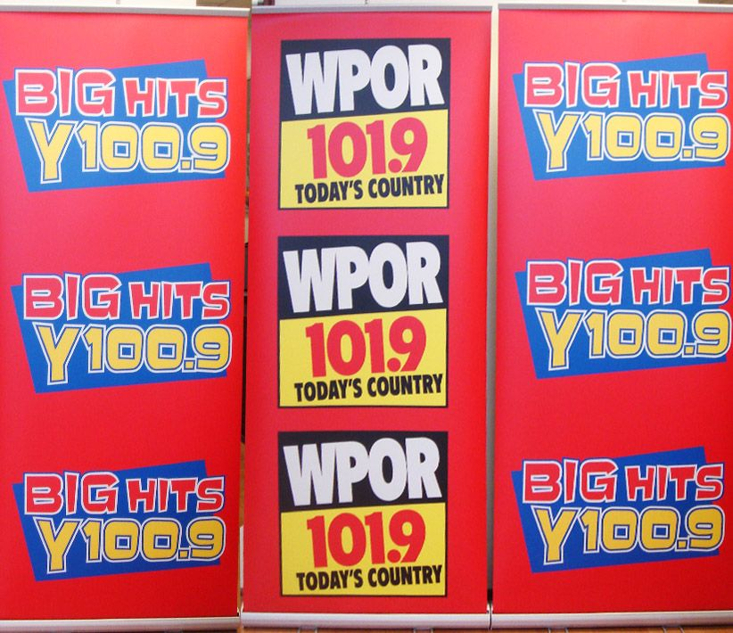 WPOR FM Radio Roll-Up Banners