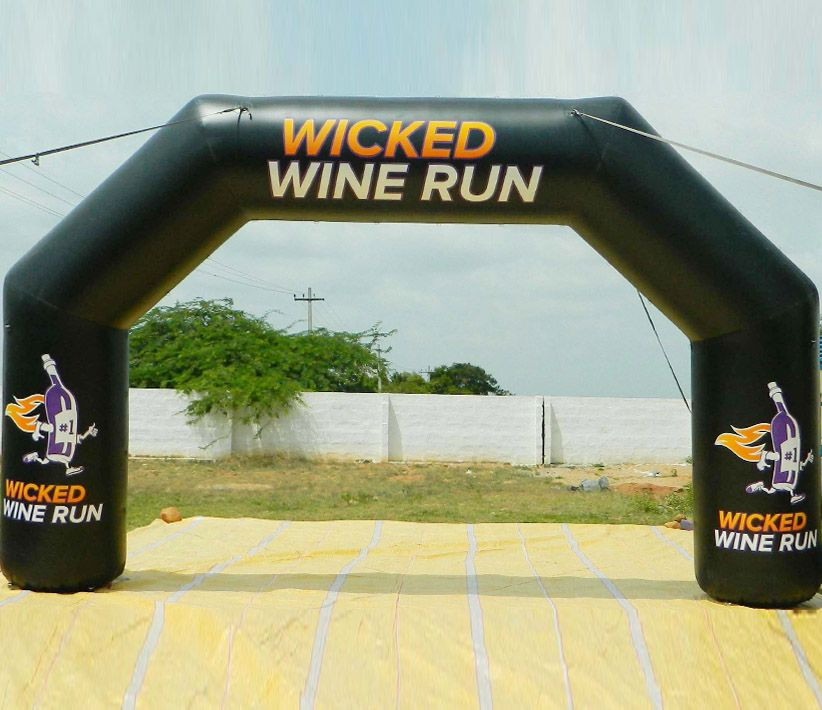 Wicked Wine Run Inflatable Arch